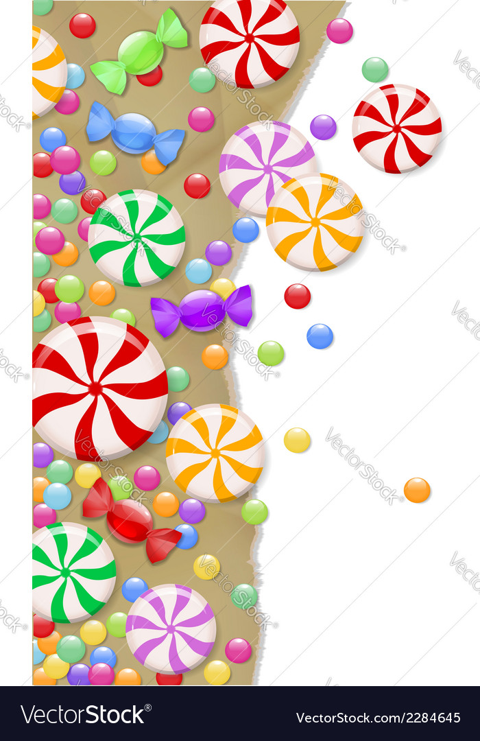 Candy background vector | Price: 1 Credit (USD $1)