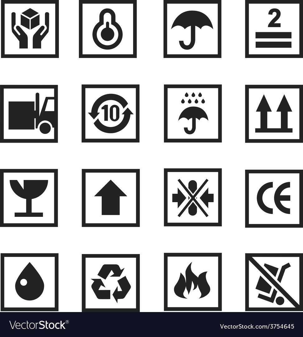 Cardboard icon white vector | Price: 1 Credit (USD $1)