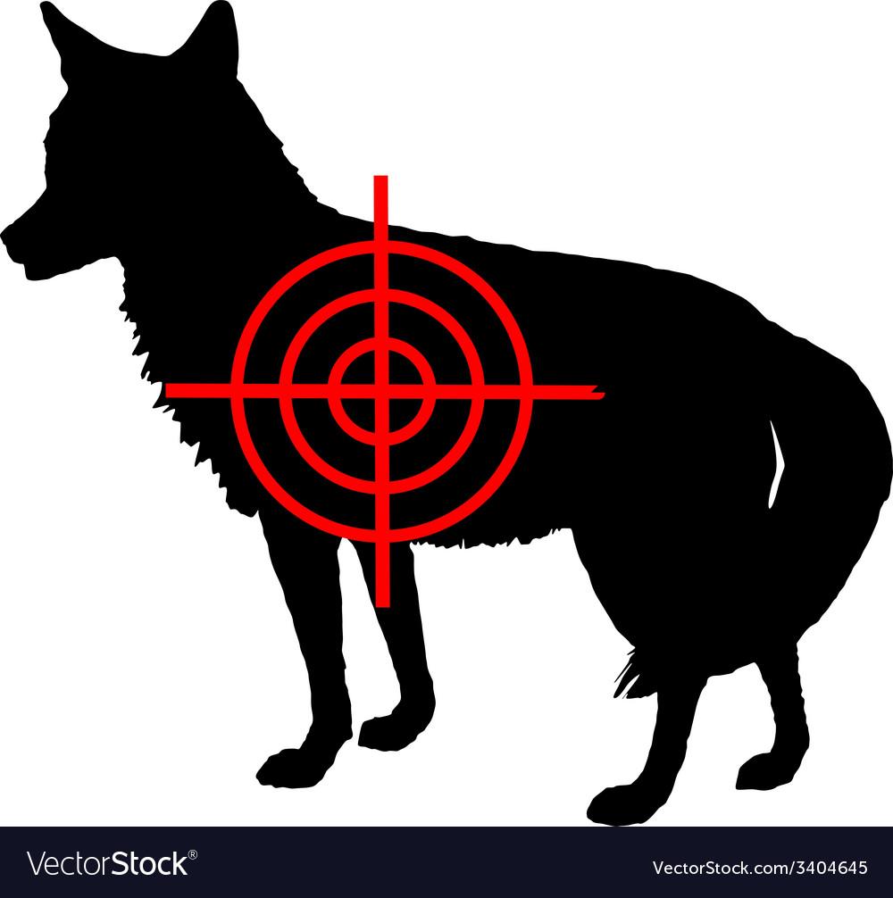 Coyote crosslines vector | Price: 1 Credit (USD $1)