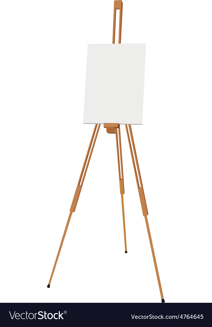Easel with canvas vector | Price: 3 Credit (USD $3)
