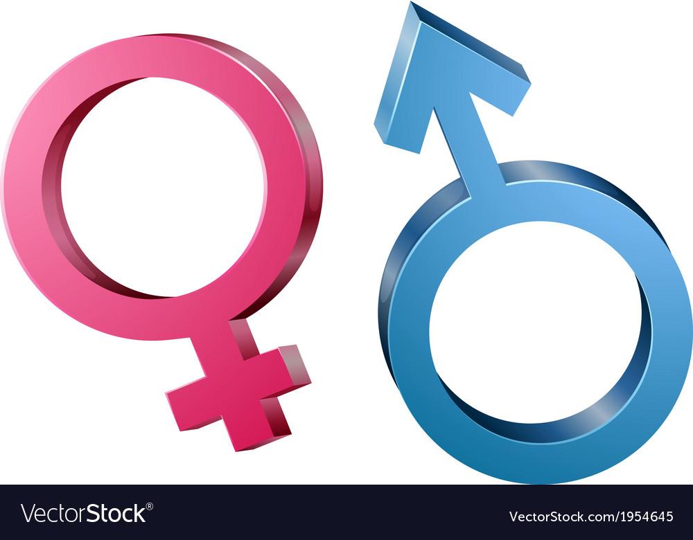 Male and female sex symbols vector | Price: 1 Credit (USD $1)