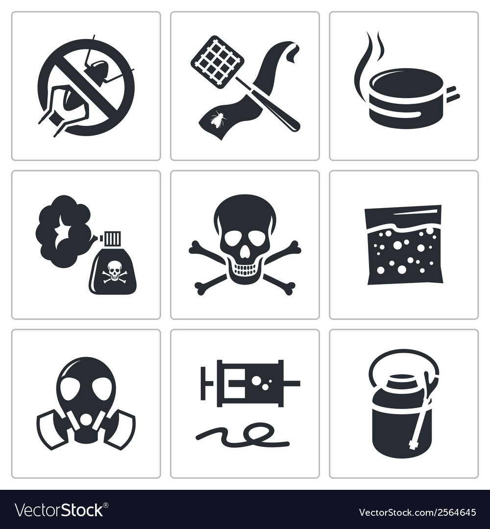No insects icon set vector | Price: 1 Credit (USD $1)