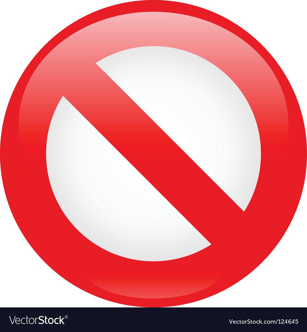 Prohibition icon vector | Price: 1 Credit (USD $1)