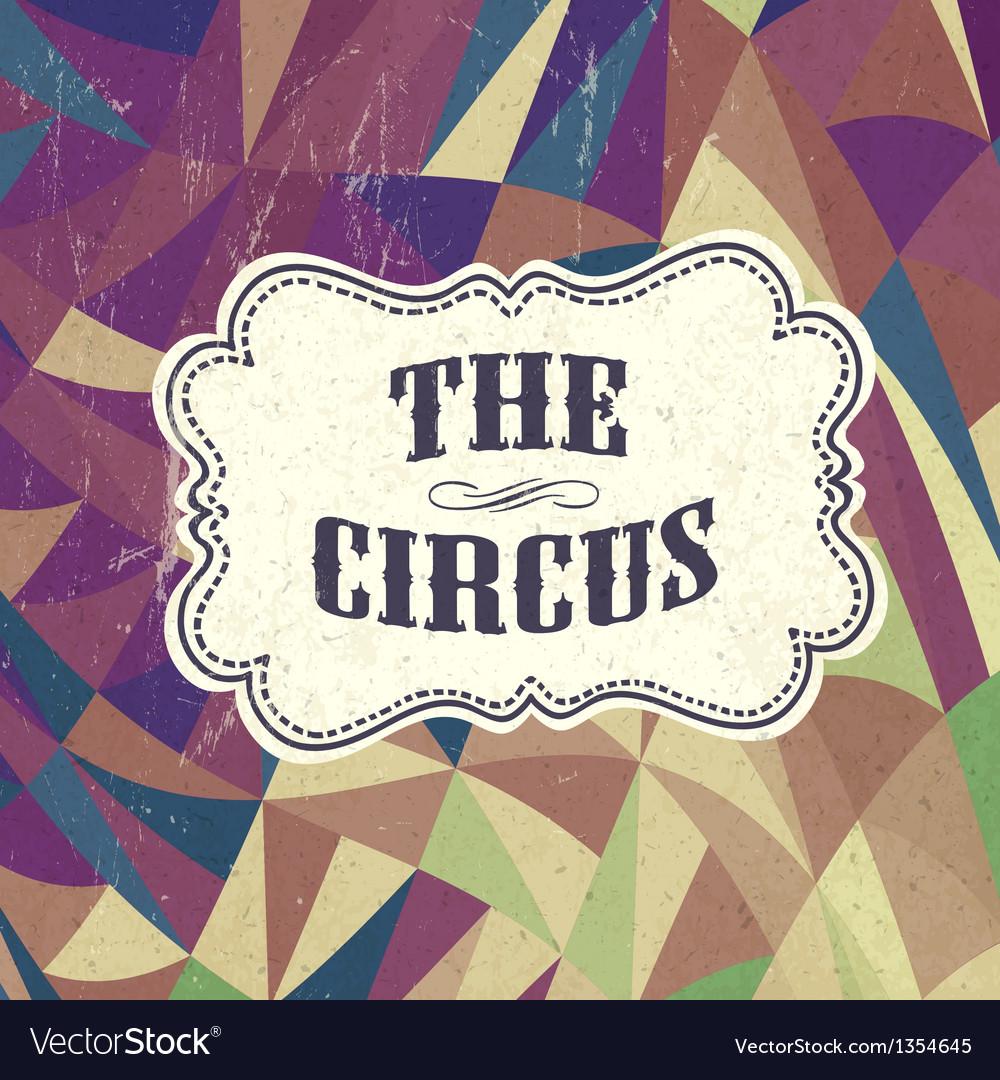 Retro circus background vector | Price: 1 Credit (USD $1)