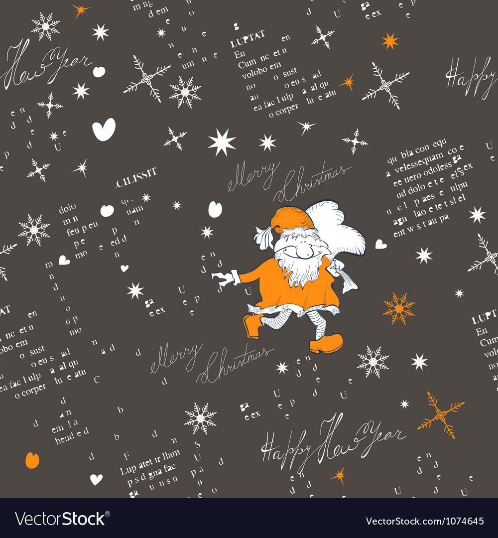 Stylized christmas seamless pattern vector | Price: 1 Credit (USD $1)