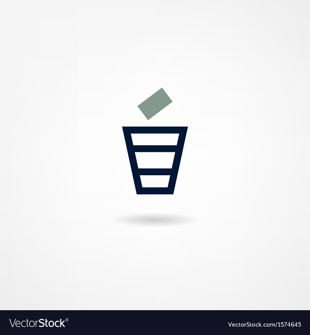 Trash icon vector | Price: 1 Credit (USD $1)