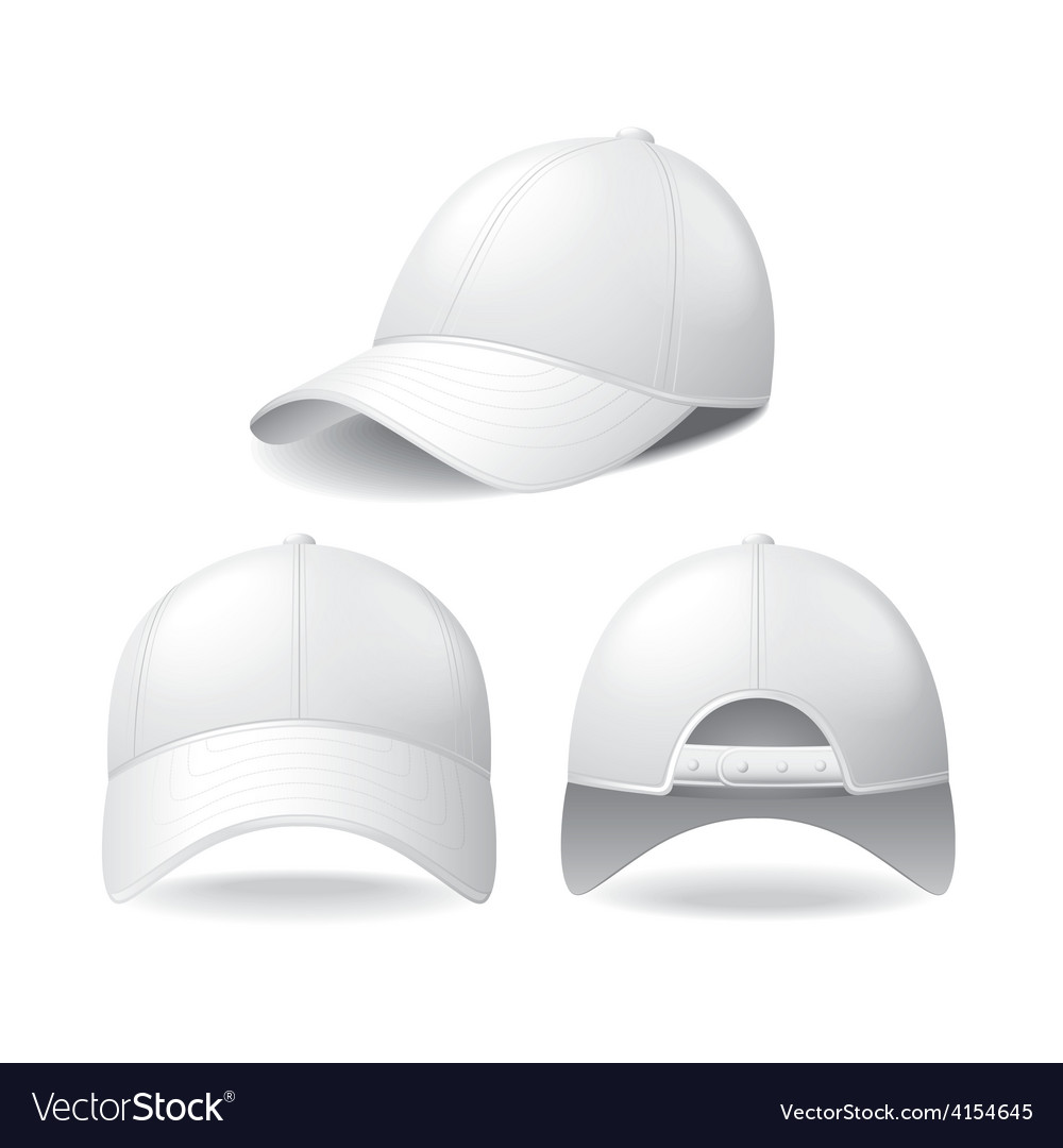 White baseball cap isolated on white vector | Price: 3 Credit (USD $3)
