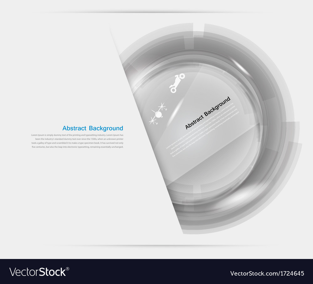 White circle glass abstract background vector | Price: 1 Credit (USD $1)