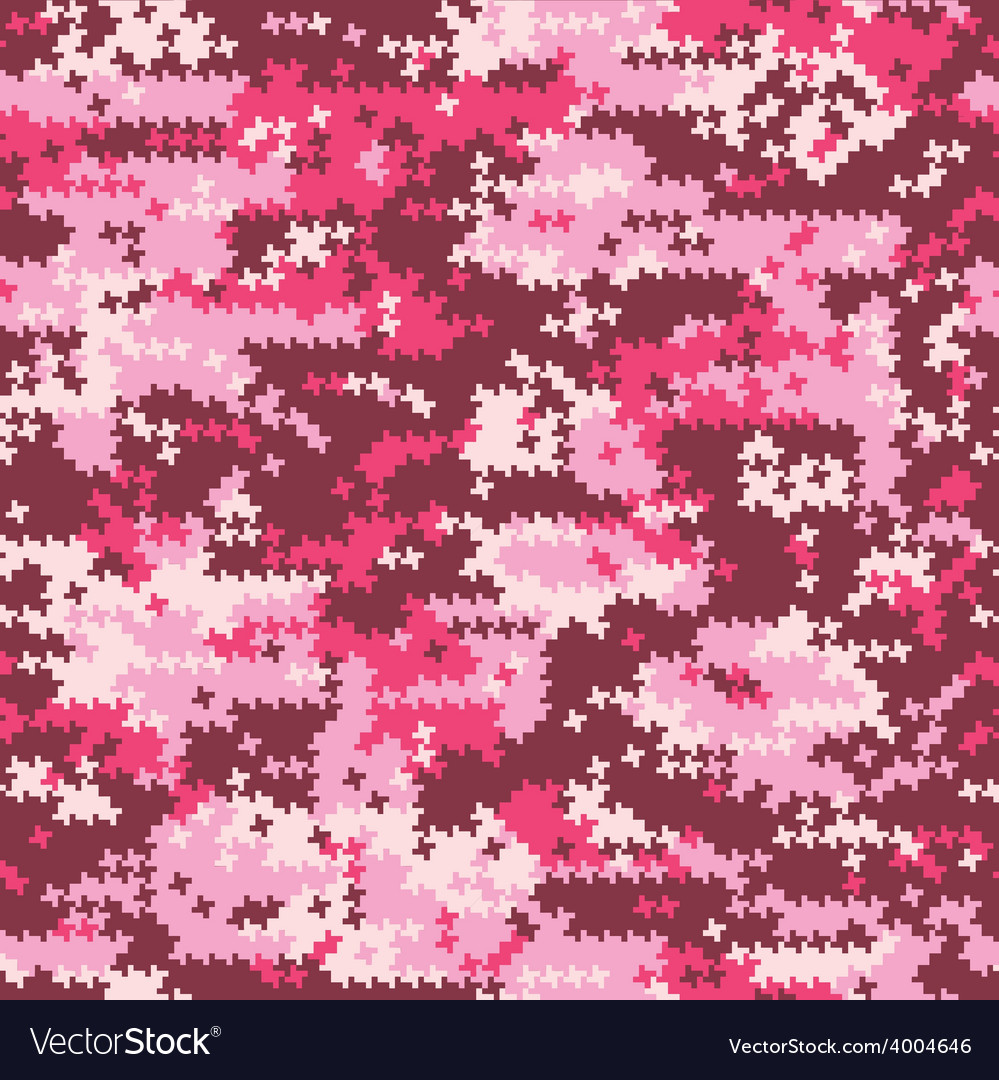Camouflage pink houndstooth vector | Price: 1 Credit (USD $1)