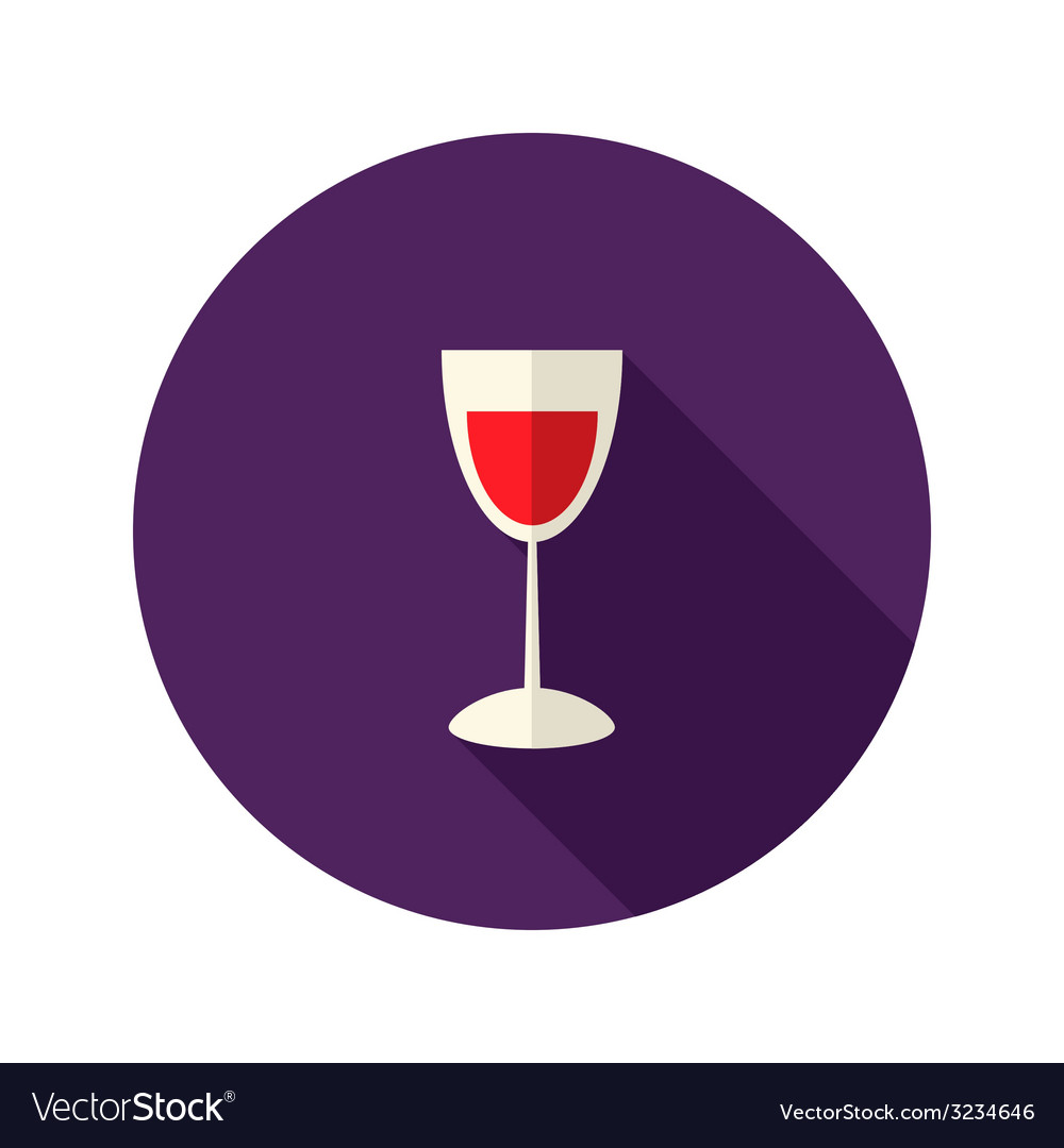 Christmas glass of wine icon vector | Price: 1 Credit (USD $1)