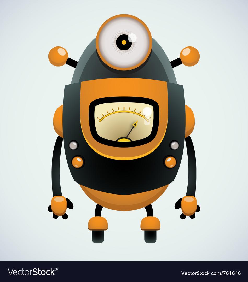 Cute retro robot vector | Price: 3 Credit (USD $3)