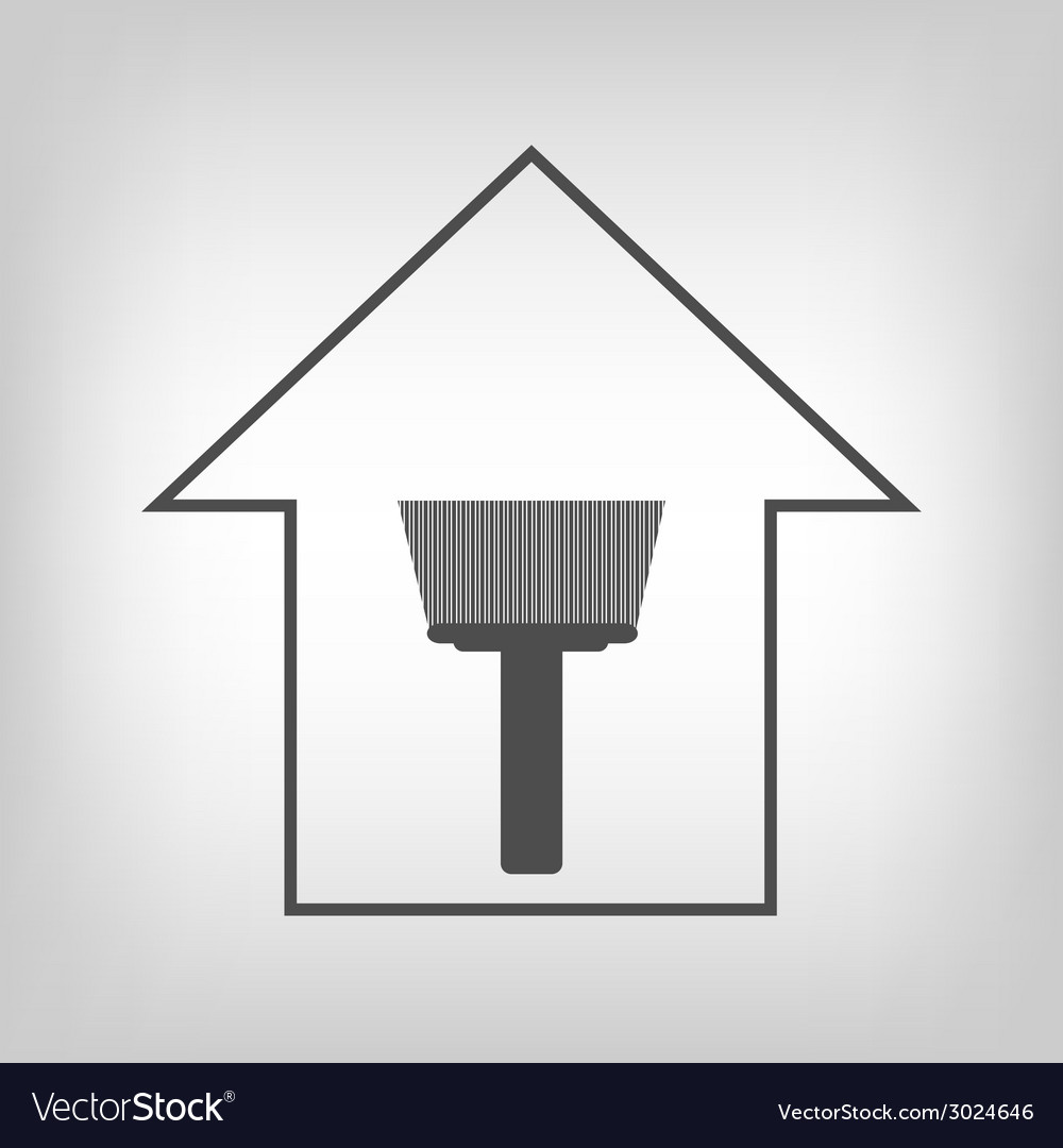 House with paint brush vector | Price: 1 Credit (USD $1)
