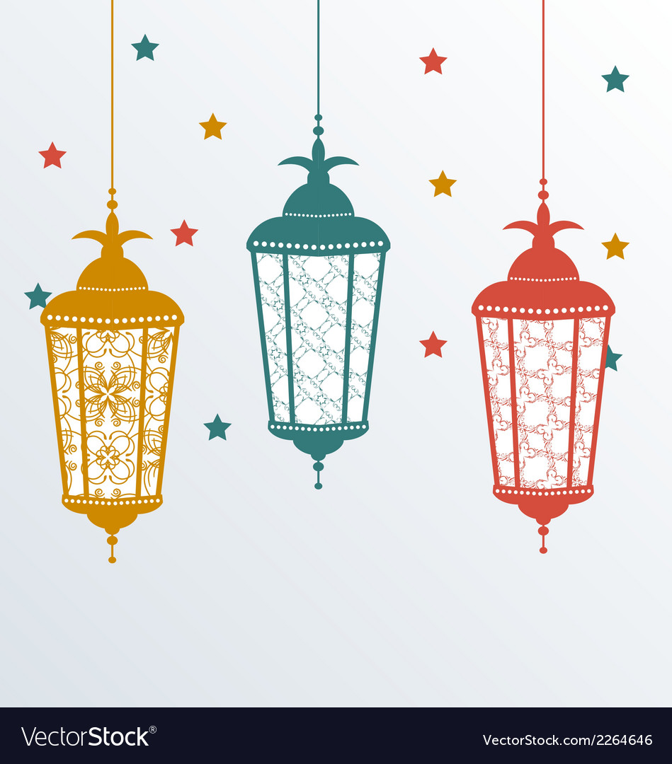 Intricate arabic lamps for ramadan kareem vector | Price: 1 Credit (USD $1)