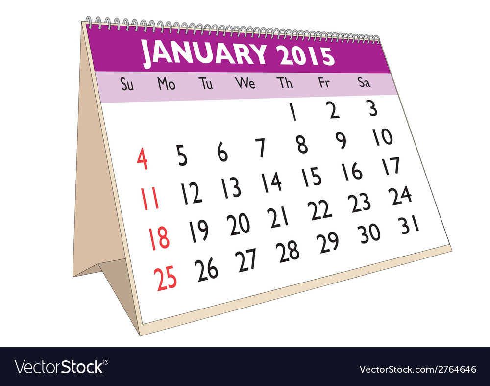 January 2015 vector | Price: 1 Credit (USD $1)