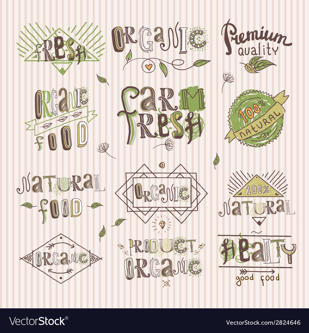 Natural-food-label-vector