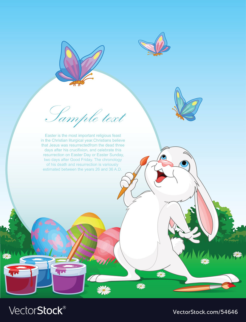 Paint bunny vector | Price: 3 Credit (USD $3)