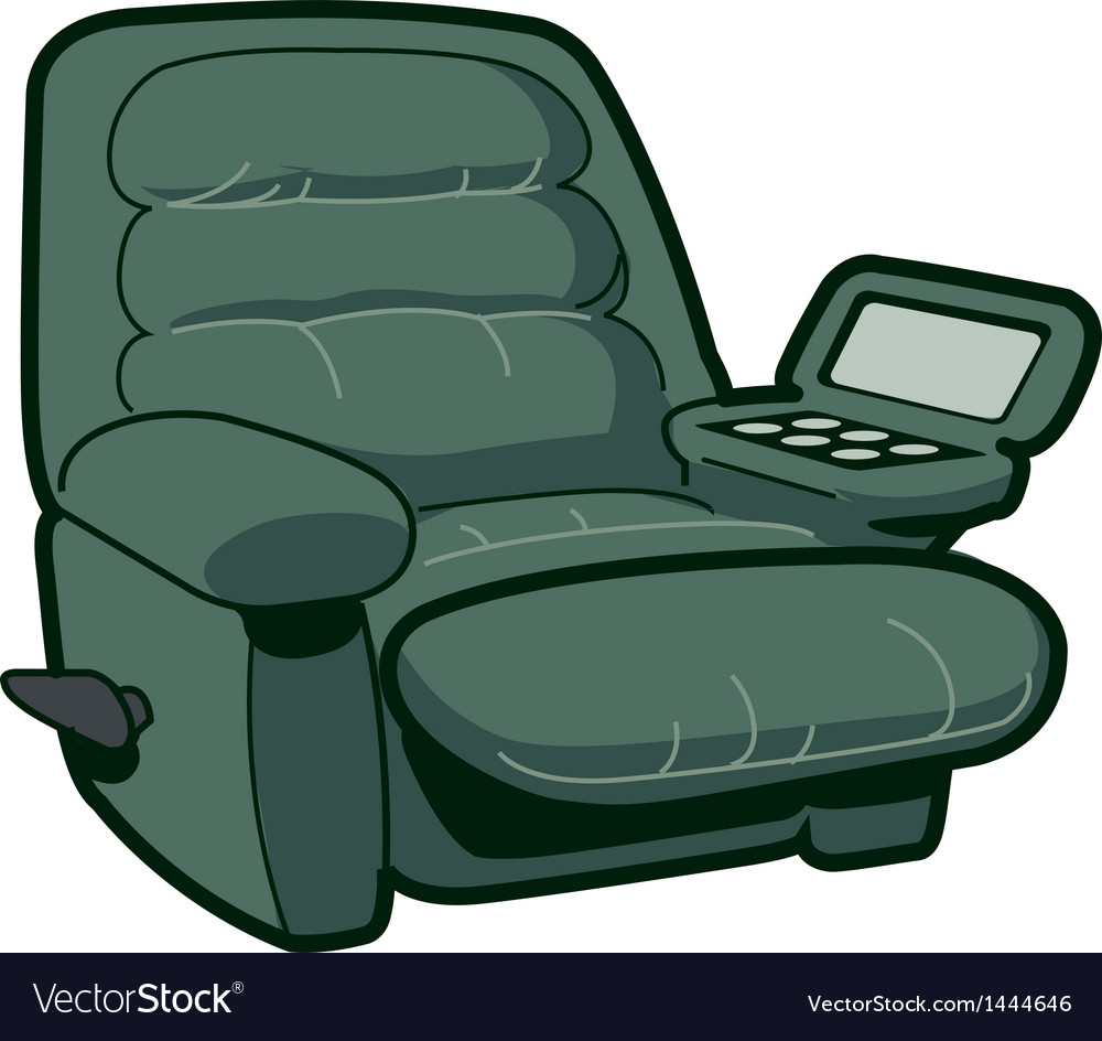Reclining chair vector | Price: 1 Credit (USD $1)