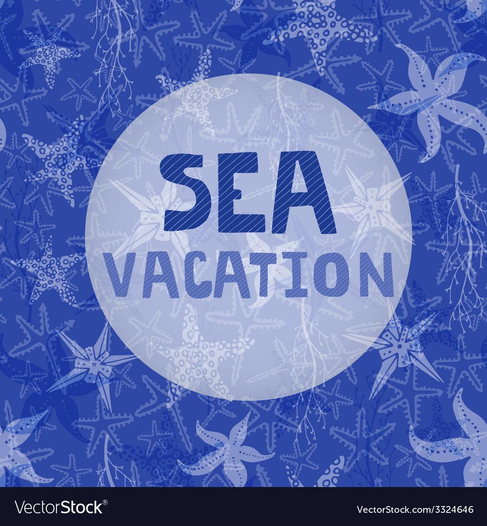 Sea vacation vector | Price: 1 Credit (USD $1)