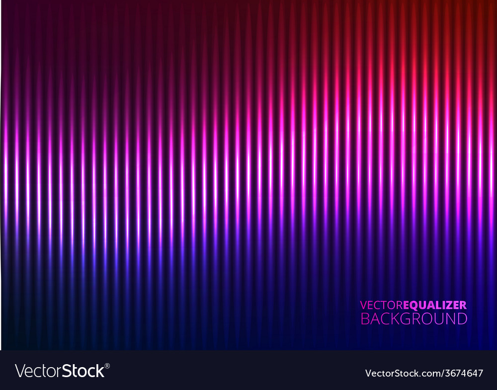 A violet music equalizer vector | Price: 1 Credit (USD $1)