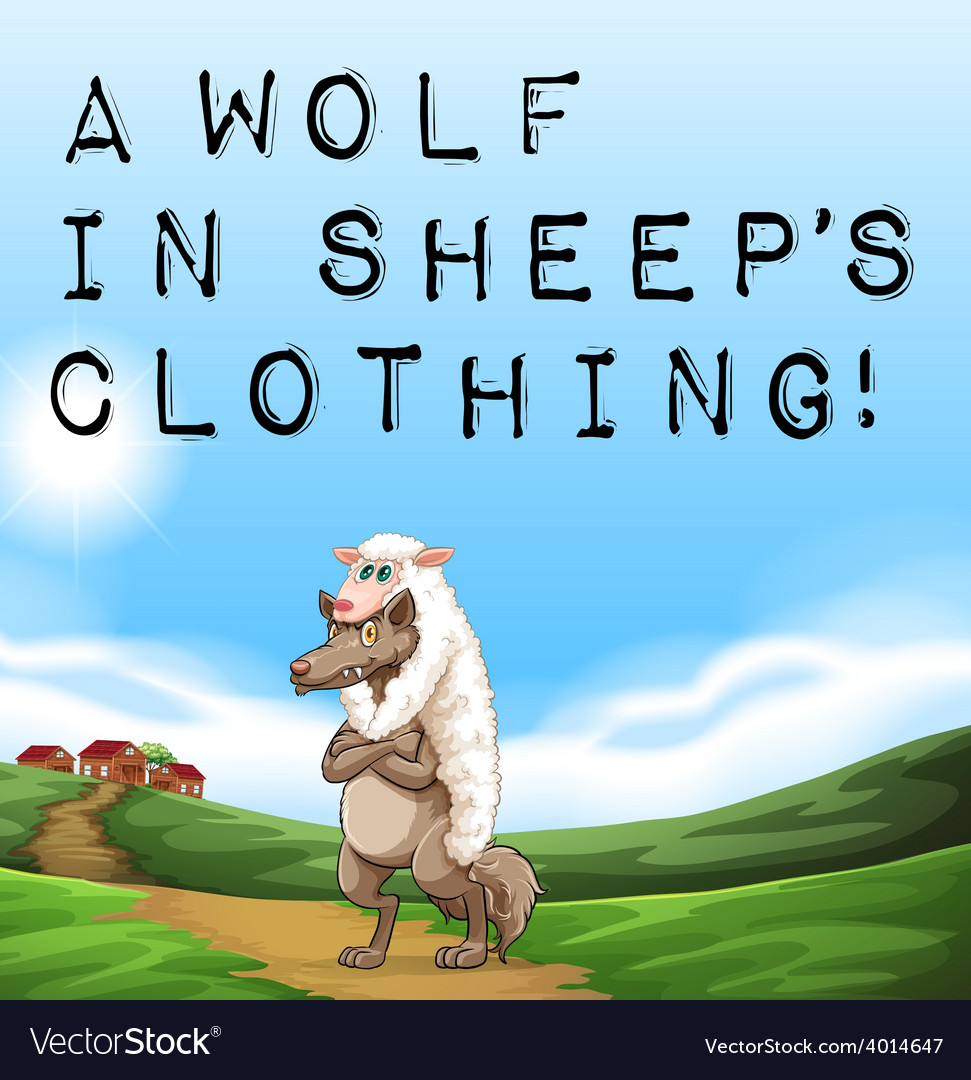 A wolf in sheeps clothing vector | Price: 1 Credit (USD $1)