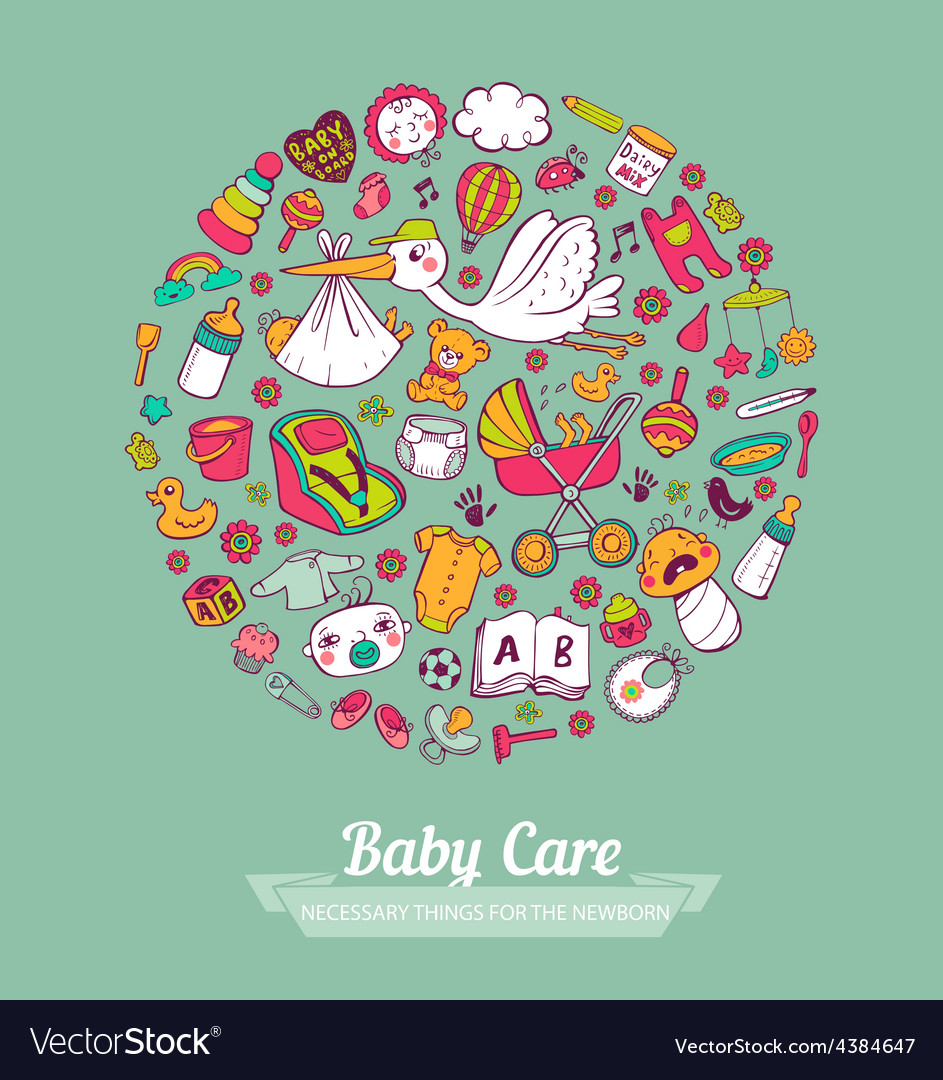 Baby care vector   Price: 1 Credit (USD $1)