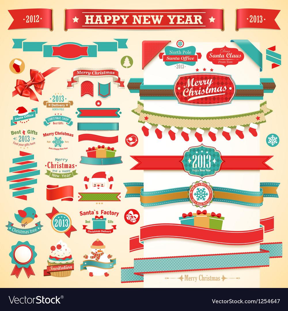 Christmas ribbons vector   Price: 3 Credit (USD $3)