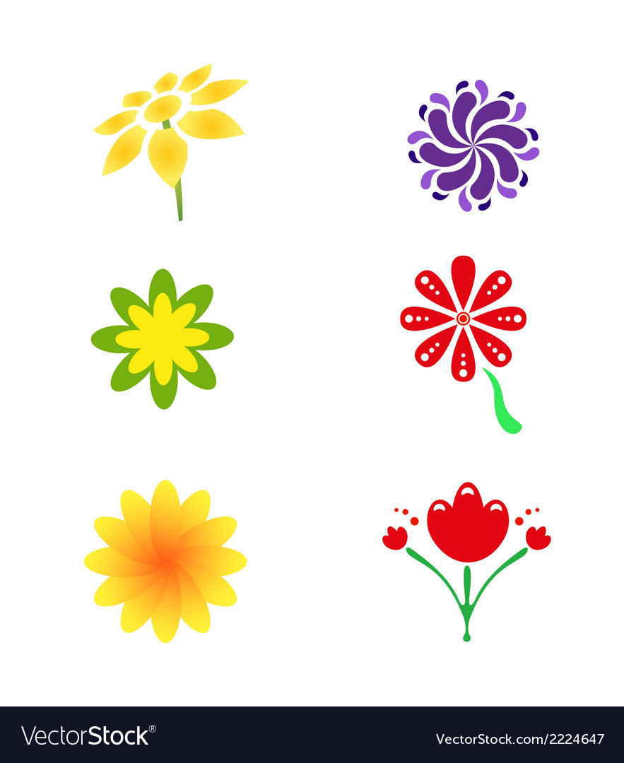 Flower logo and icon vector | Price: 1 Credit (USD $1)
