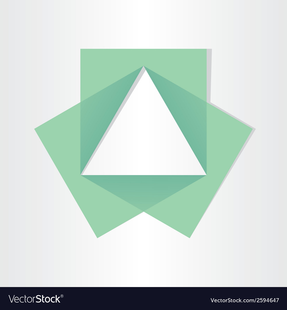 Geometrical triangle with squares math symbol vector | Price: 1 Credit (USD $1)
