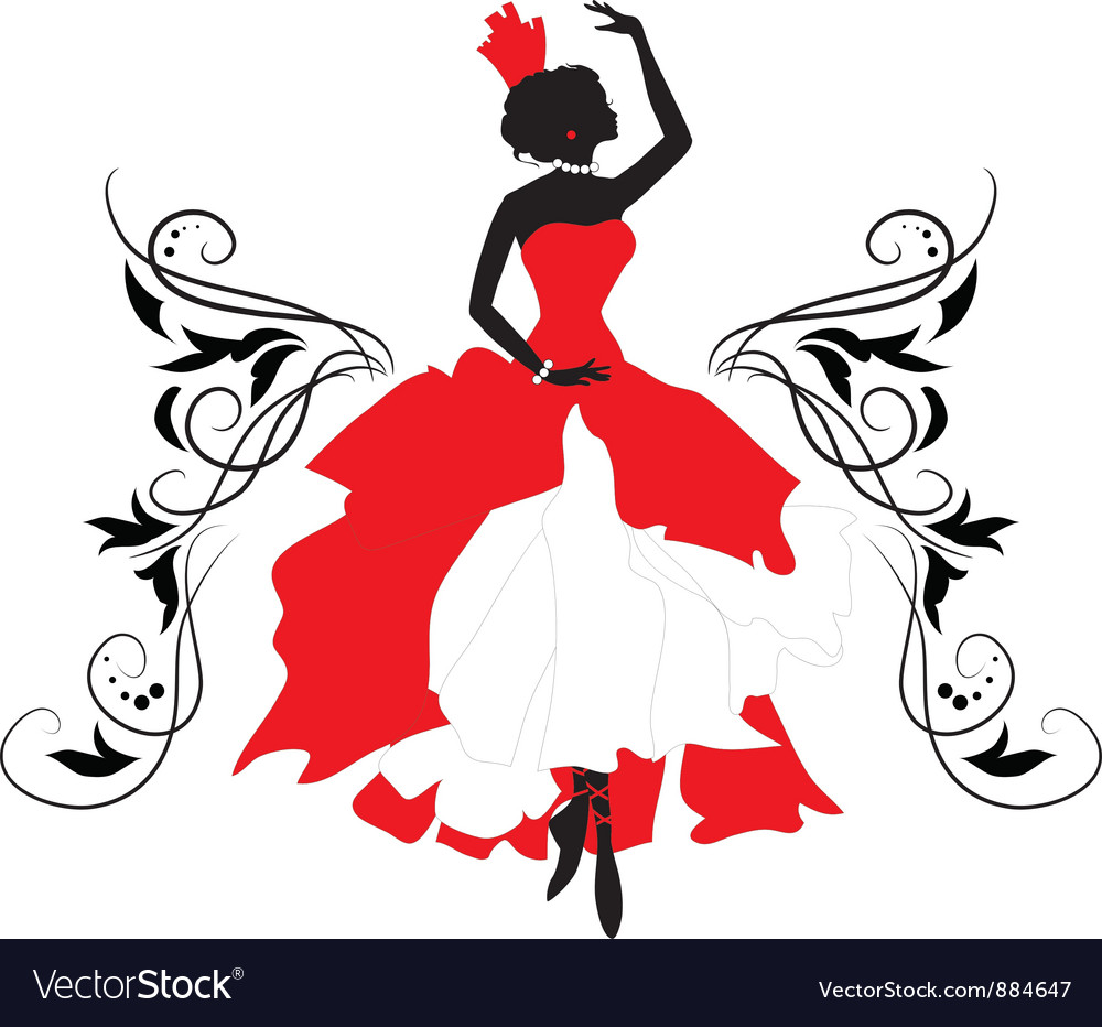 Graphic silhouette of a woman isabelle series vector | Price: 1 Credit (USD $1)