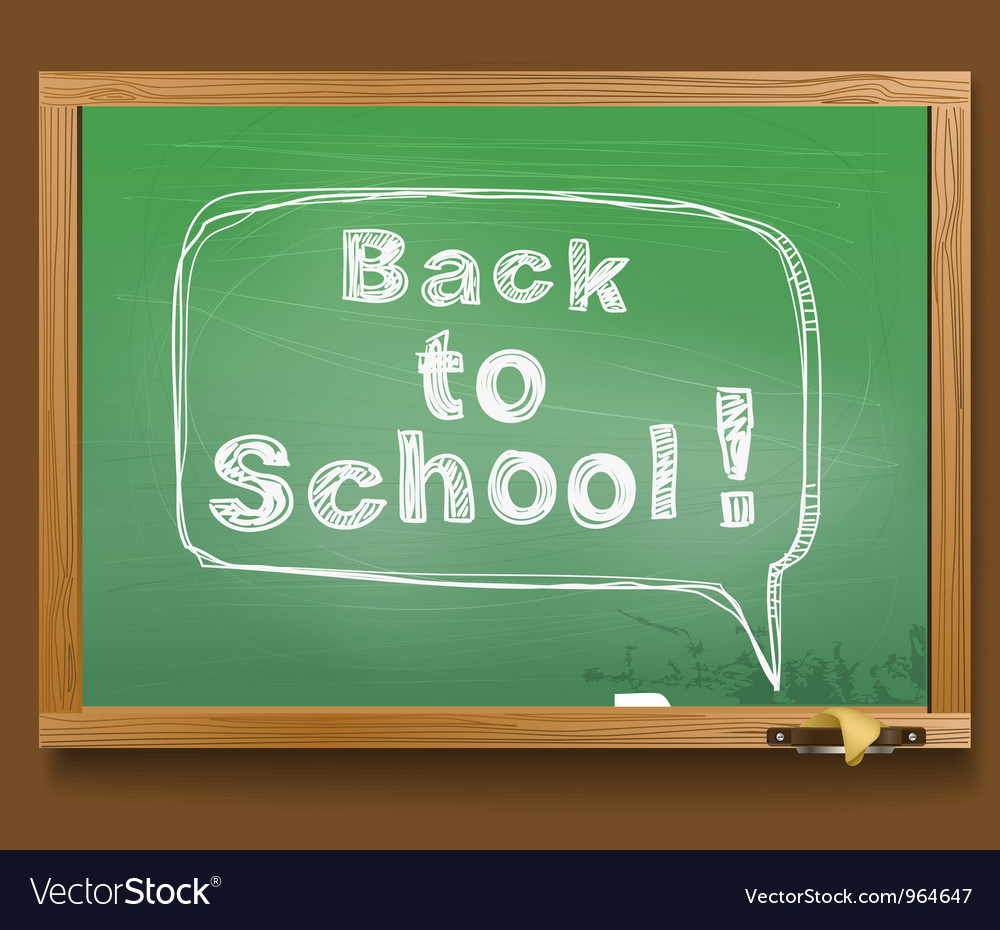 Message in a speech cloud back to school vector | Price: 1 Credit (USD $1)