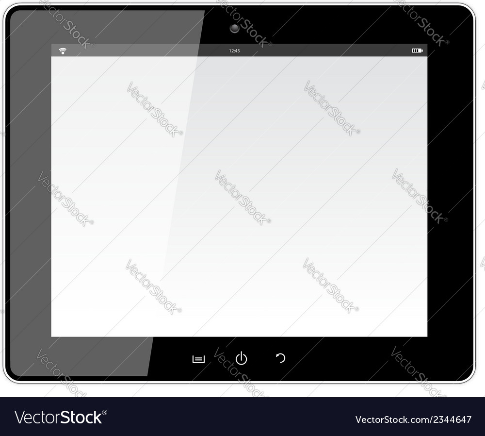 Realistic tablet pc with blank screen vector | Price: 1 Credit (USD $1)