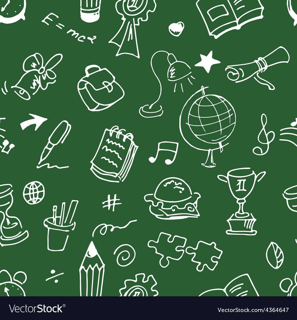 School seamless pattern vector | Price: 1 Credit (USD $1)