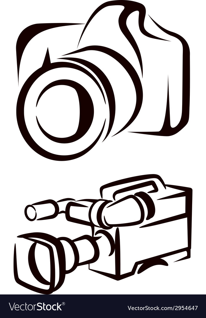 Set of camera icons vector | Price: 1 Credit (USD $1)