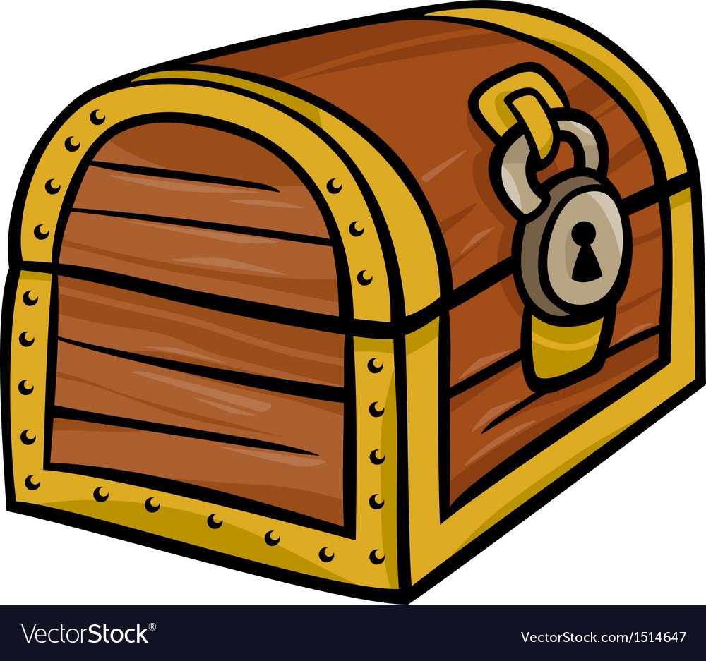 Treasure chest clip art cartoon vector | Price: 1 Credit (USD $1)