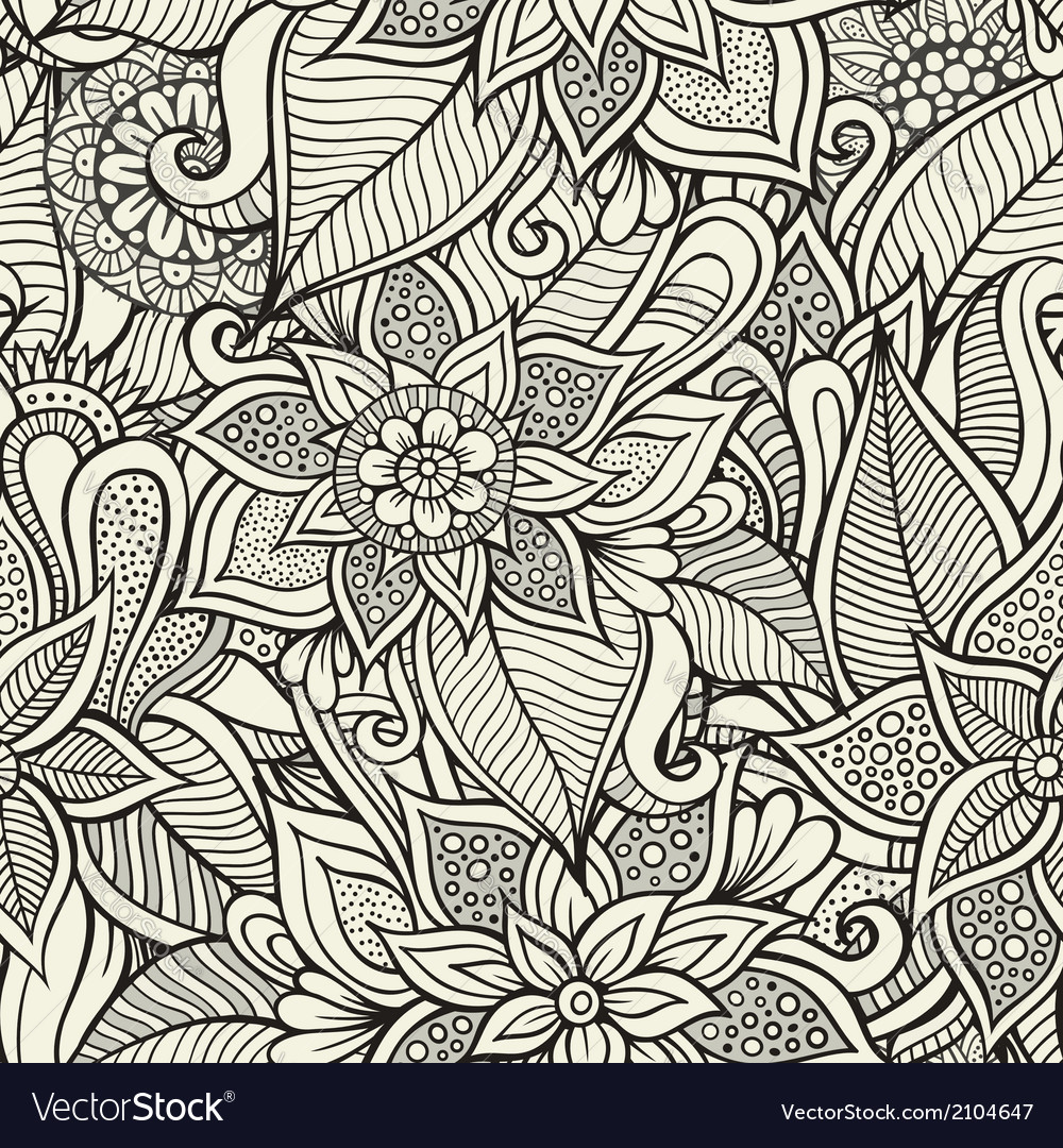 Vintage decorative floral ornamental seamless vector | Price: 1 Credit (USD $1)
