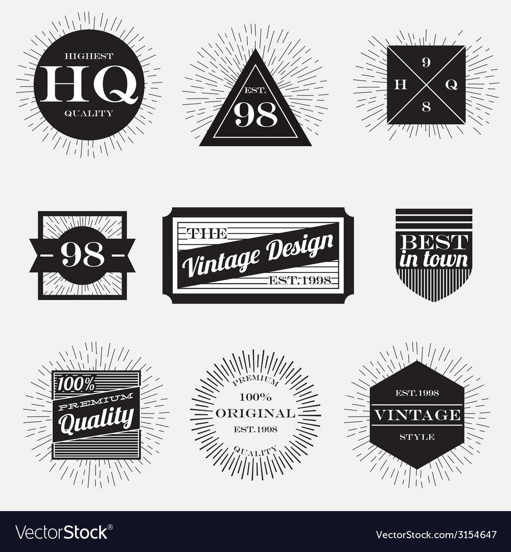 Vintage label vector | Price: 1 Credit (USD $1)