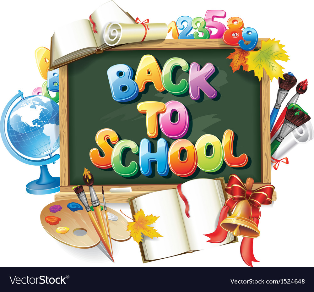 Back to school background vector | Price: 5 Credit (USD $5)