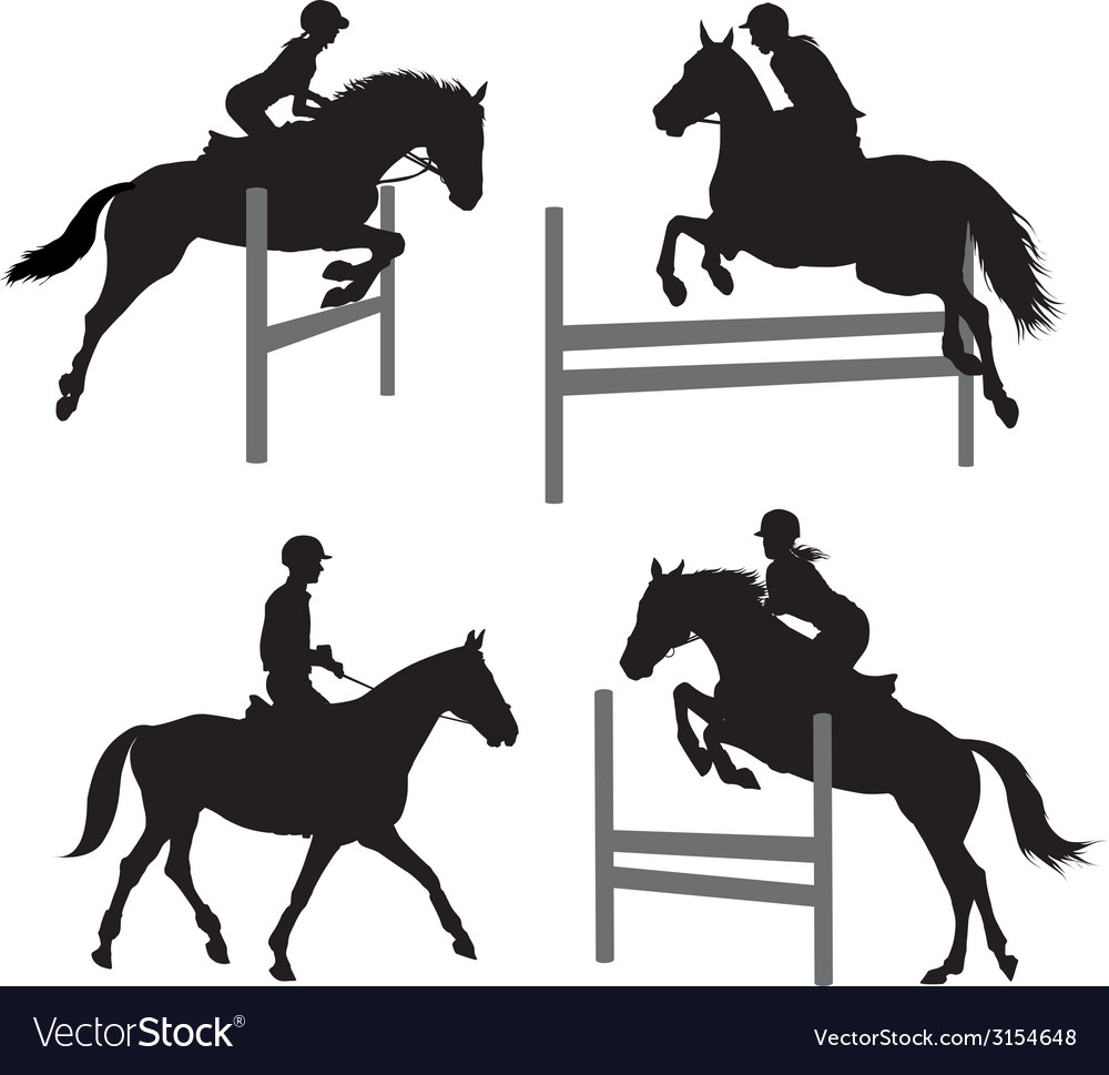 Equestrian sports set 2 vector | Price: 1 Credit (USD $1)