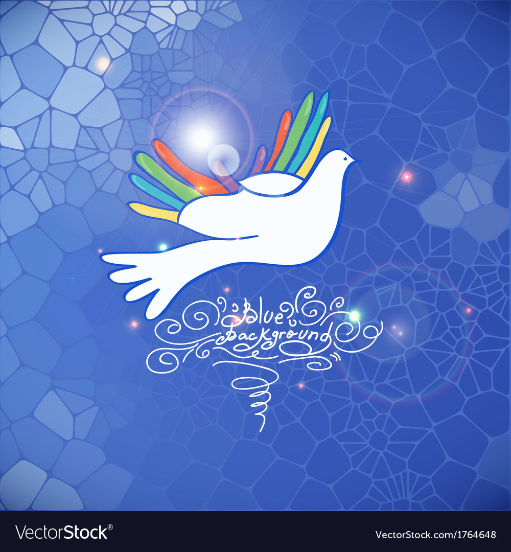Hand and bird pigeon dove vector | Price: 1 Credit (USD $1)