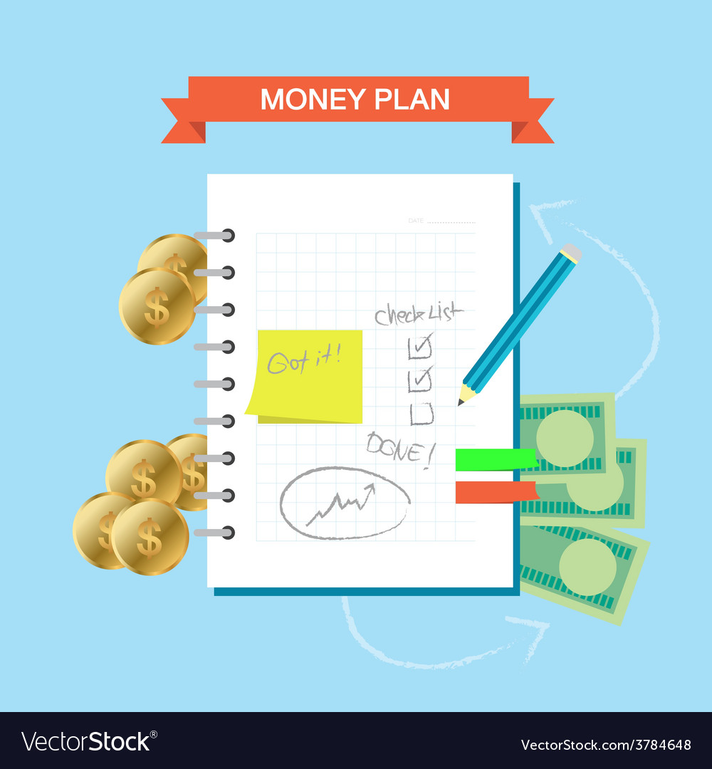 Plan note 001 vector | Price: 1 Credit (USD $1)