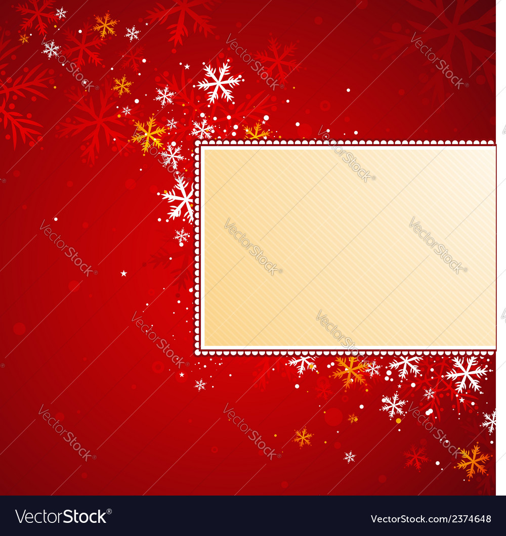 Red christmas background with snowflakes vector | Price: 1 Credit (USD $1)