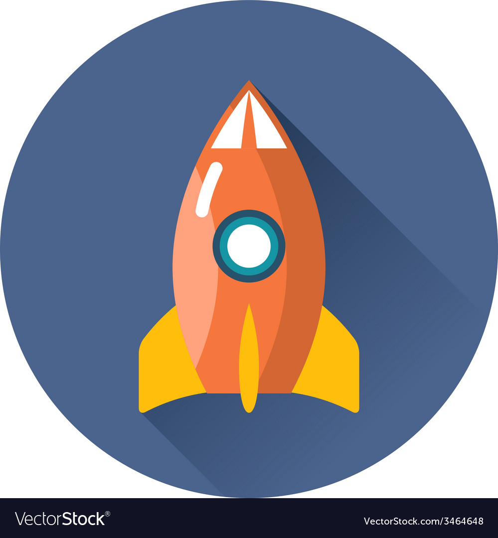 Rocket icon vector | Price: 1 Credit (USD $1)