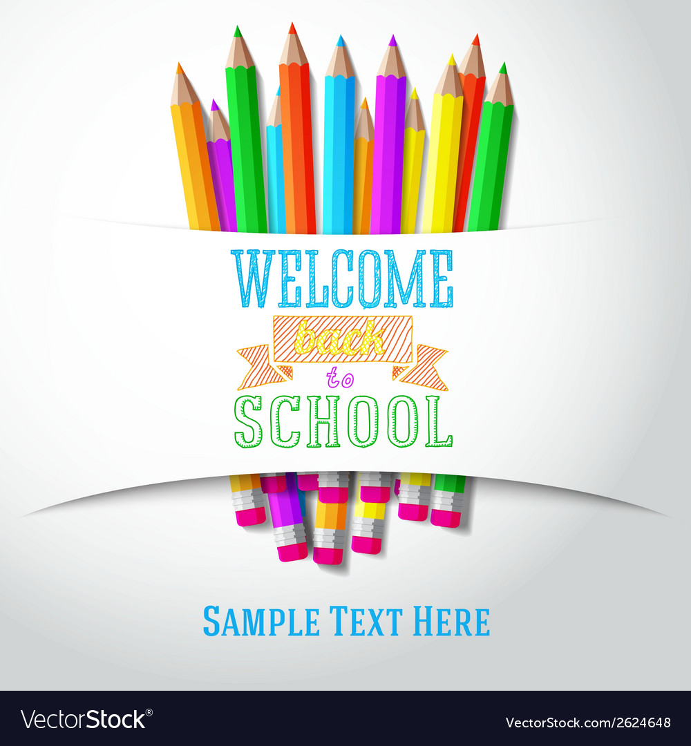 Welcome back to school hand-drawn greeting with vector | Price: 1 Credit (USD $1)