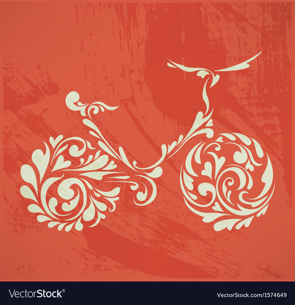 Abstract floral bike vector | Price: 1 Credit (USD $1)