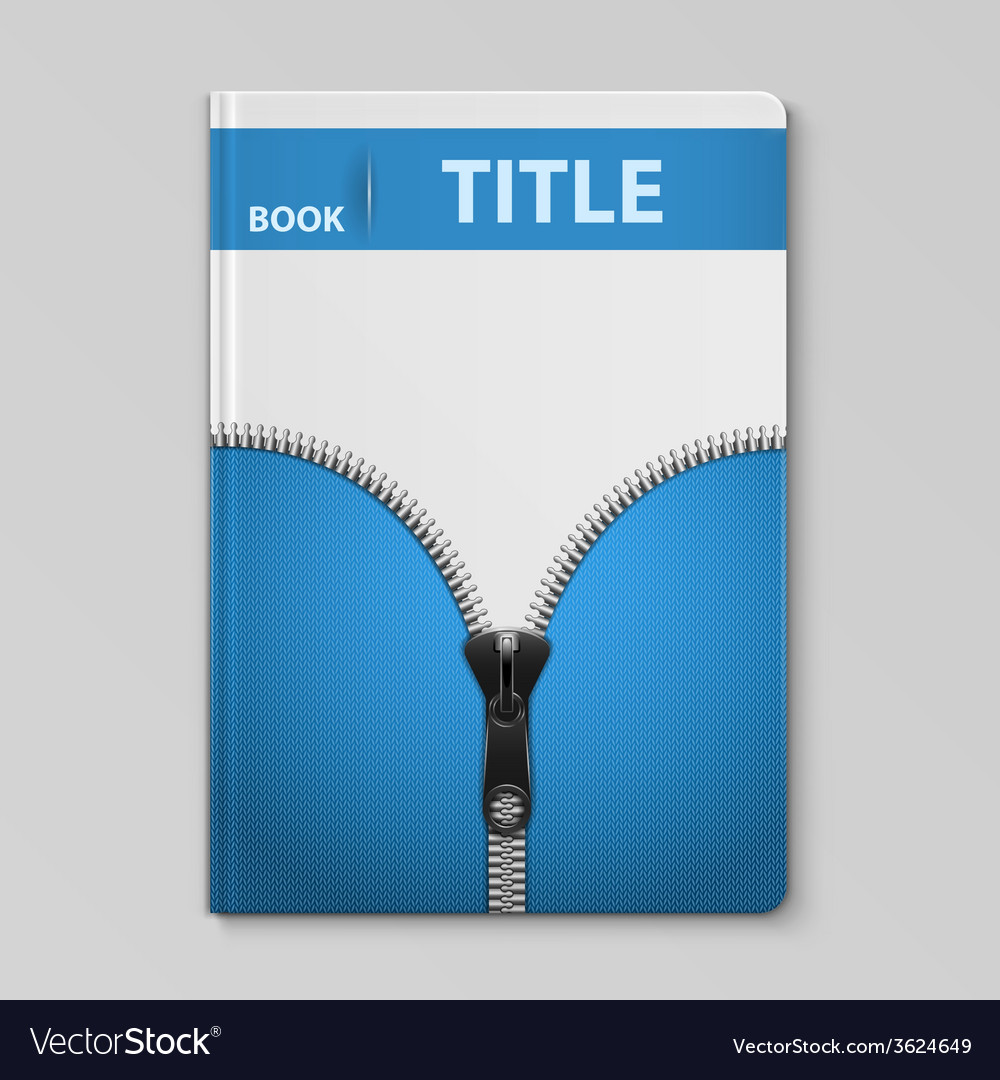 Book template with knitted textile design vector | Price: 1 Credit (USD $1)