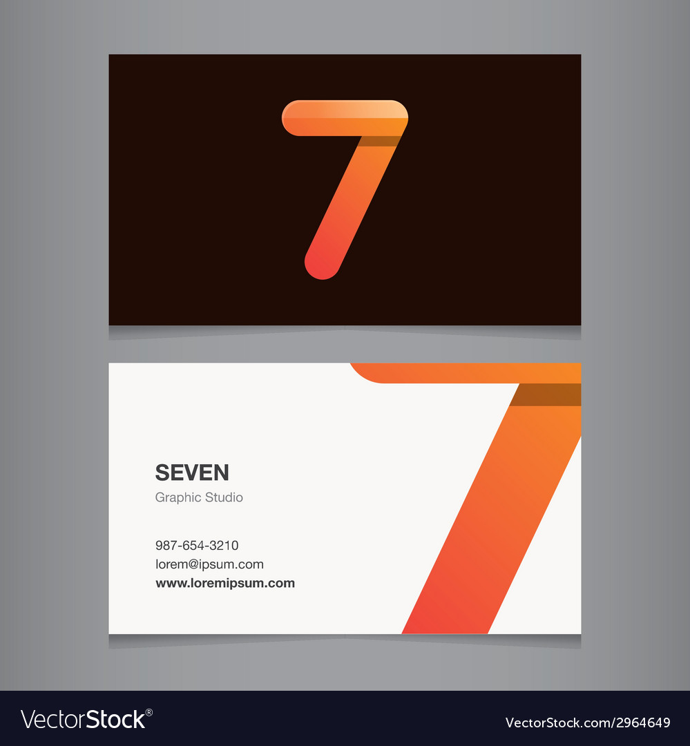 Business card number 7 vector | Price: 1 Credit (USD $1)