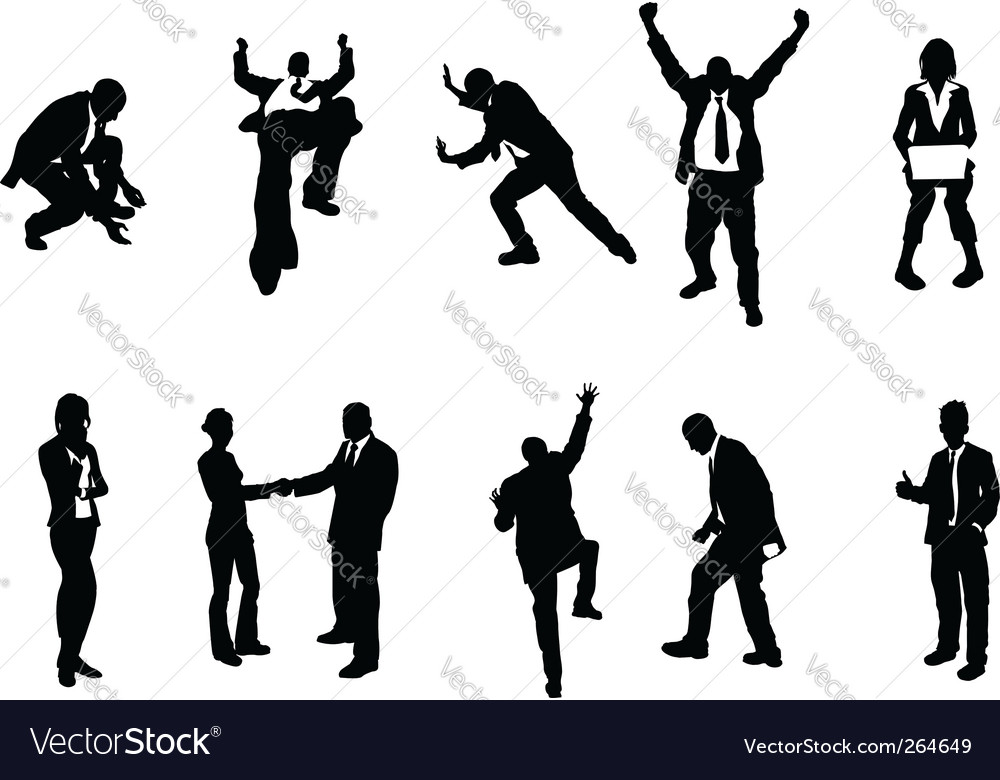 Concept busniess people silhouettes vector | Price: 1 Credit (USD $1)