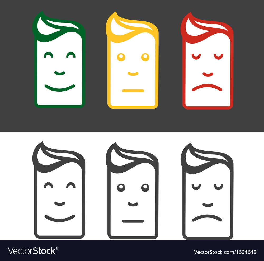 Emotion icon set vector | Price: 1 Credit (USD $1)