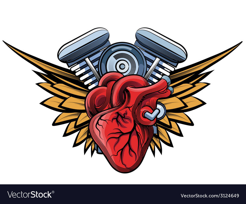 Engine tatoo label vector | Price: 1 Credit (USD $1)