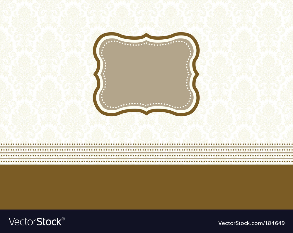 Frame and seamless pattern vector | Price: 1 Credit (USD $1)